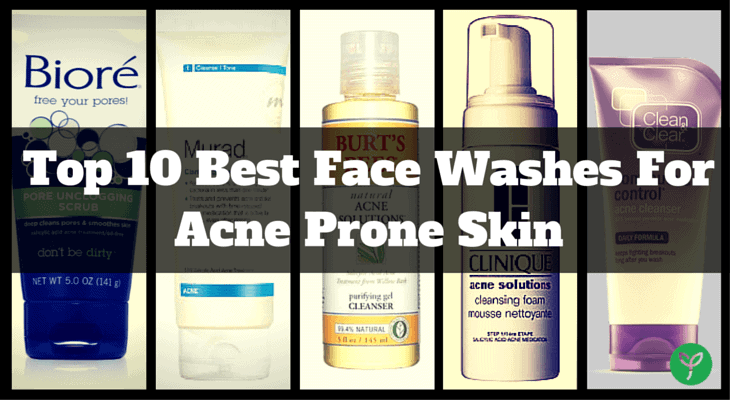 Facial cleanser for acne prone skin