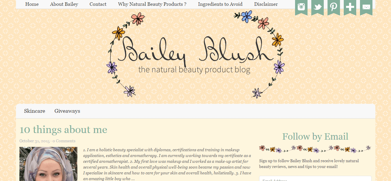 Bailey Blush   the natural beauty product blog