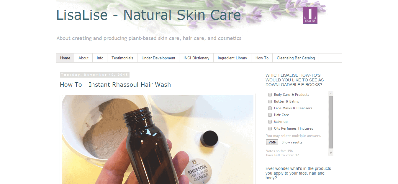 LisaLise   Natural Skin Care
