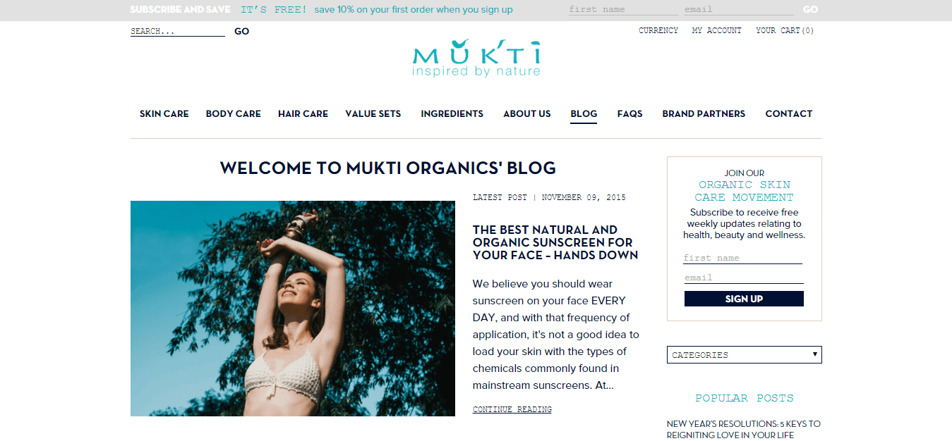 Mukti Organics   Australian certified organic skincare cosmetic products. Plant based  natural facial  body and hair care.