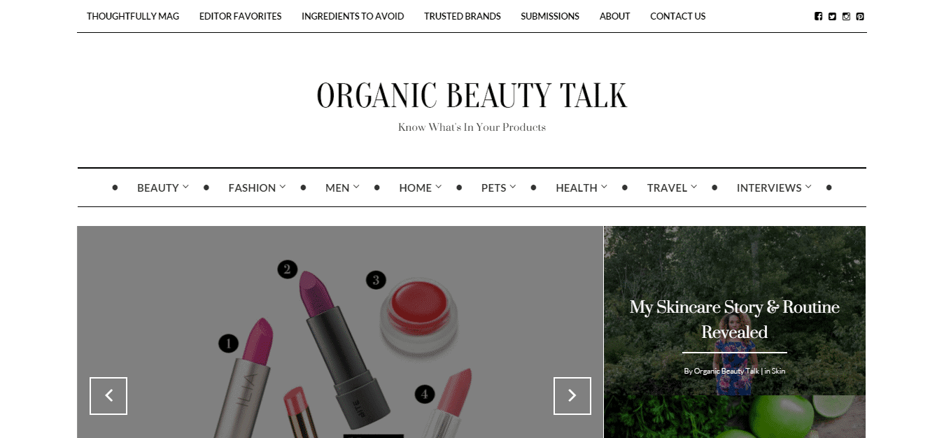 Organic Beauty Talk