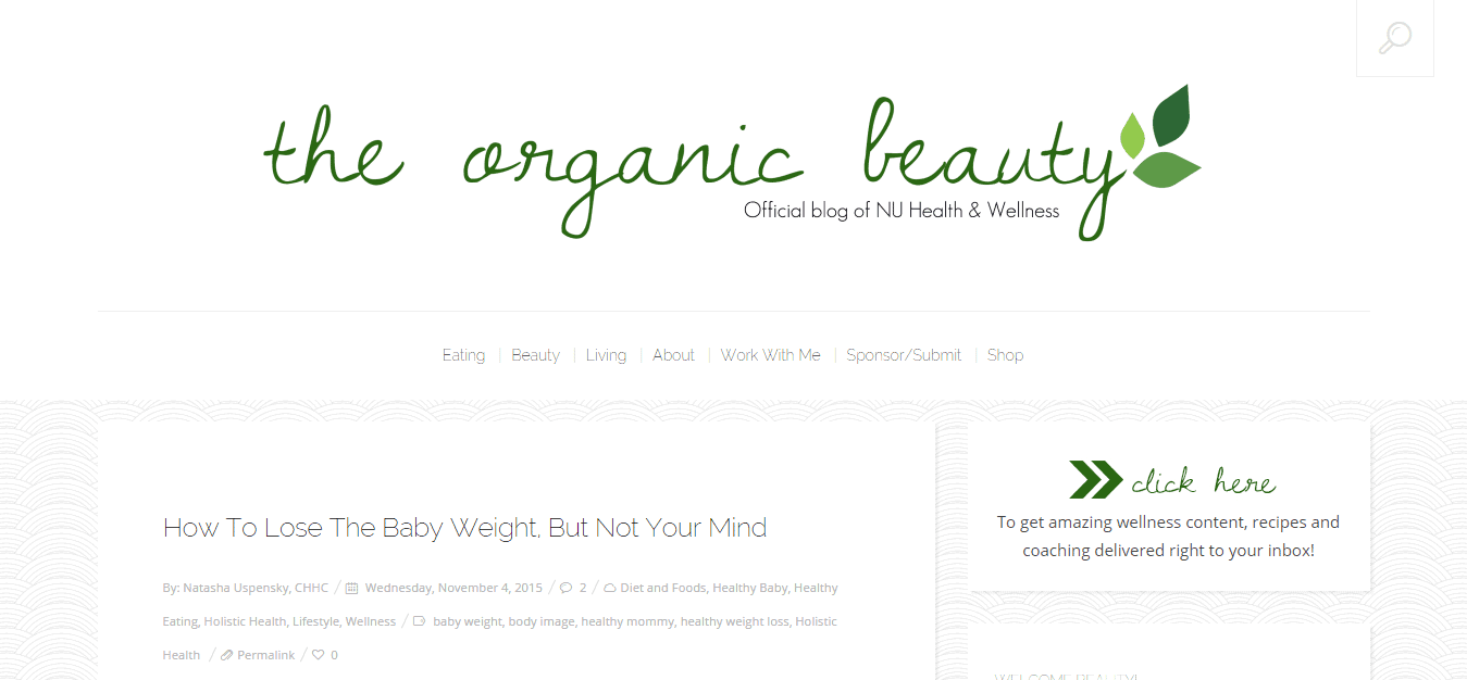The Organic Beauty   Natural  Radiant Beauty from the Inside Out