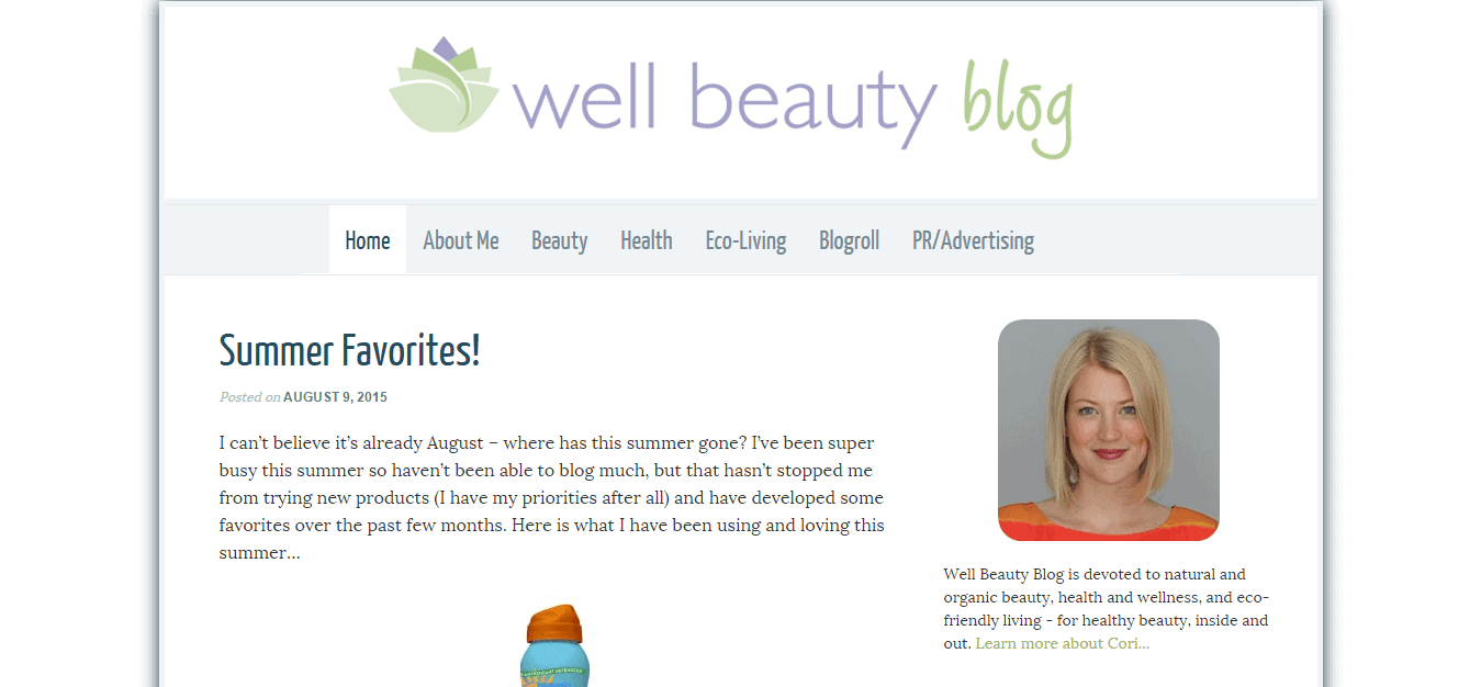 Well Beauty Blog — Natural   Organic Beauty  Health and Eco Living