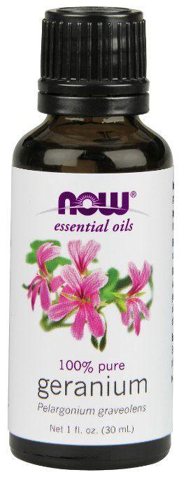 Top rated Essential Oils for Rosacea - Now Food's Geranium Pelargonium Graveolens Oil
