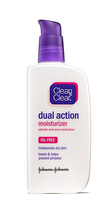 Best Products For Acne Prone Skin - Clean & Clear Dual Action Moisturizer