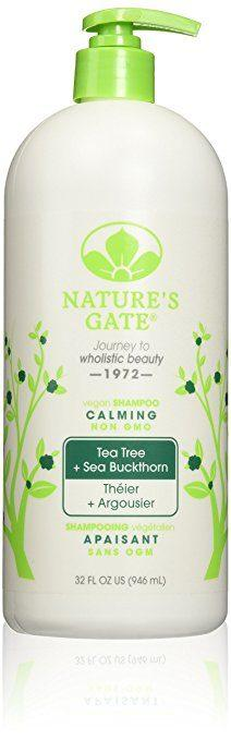 Best Shampoos for Rosacea comparisions - Tea Tree + Sea Buckthorn Calming Shampoo by Nature's Gate