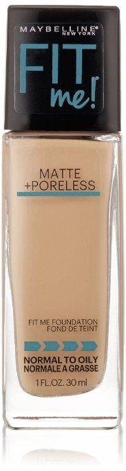 Best foundation for acne prone skin - Maybelline New York Fit Me Matte Poreless Foundation