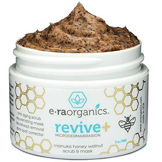 Best face mask for acne prone skin - Era Organics Microdermabrasion Face Scrub & Facial Mask in One