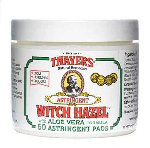 Best Astringent for Oily Skin  - Thayers Original Witch Hazel Astringent Pads