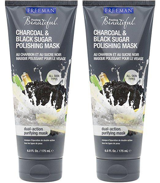 Best Exfoliator for Oily Skin - Freeman Feeling Beautiful Charcoal & Black Sugar Gel Mask and Scrub