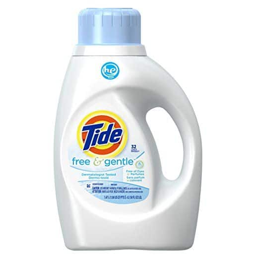 Best Laundry Detergent for Eczema - Free and Gentle High Efficiency Liquid Laundry Detergent by Tide