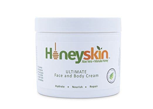 Best Lotion for Psoriasis - Aloe Vera + Manuka Honey Ultimate Face and Body Cream by Honeyskin Organics