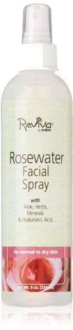 Best Makeup Setting Spray for Oily Skin - Reviva Labs' Rosewater Facial Spray