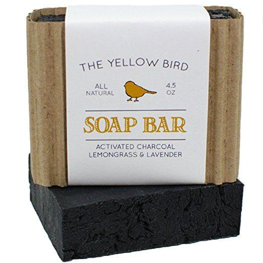 Best Soap for Psoriasis - The Yellow Bird's Activated Charcoal Soap Bar