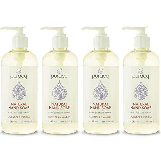 Best Soaps For Eczema - Puracy's Sulfate Free Natural Liquid Hand Soap, Lavender and Vanilla