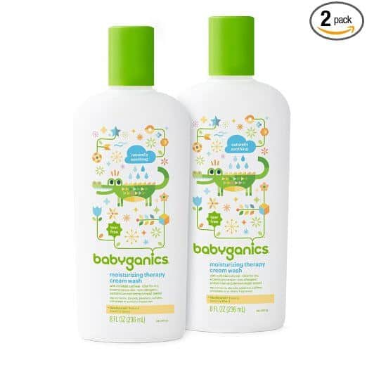 Top picks Soaps For Eczema - Babyganics' Moisturizing Therapy Baby Cream Wash