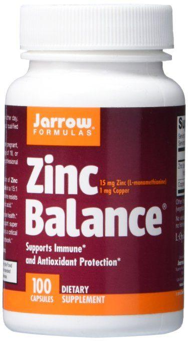 Best Vitamins and Supplements for Rosacea - Jarrow Formulas Zinc Balance