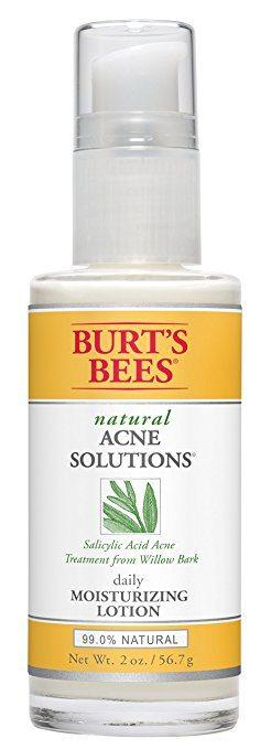 Best Face Lotion for Oily Skin - Burt's Bee's Natural Acne Solutions Daily Moisturizing Lotion