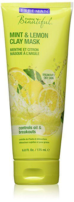Top rated Face Mask for Oily Skin  - Mint & Lemon Clay Mask by Freeman