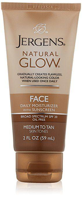 Best Bronzers for Every Skin Tone - Natural Glow Face Daily Moisturizer by Jergens