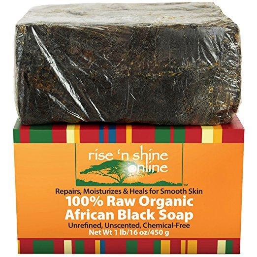 Best African Black Soap - 100% Raw Organic African Soap by rise 'n shine online