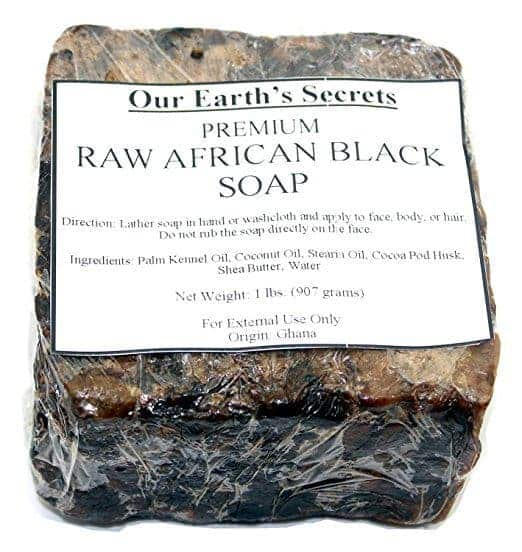 Best African Black Soap - Premium Raw African Black Soap by Our Earth's Secrets
