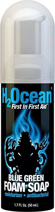 Best Soap for New Tattoo -Blue Green Foam Soap by H2Ocean