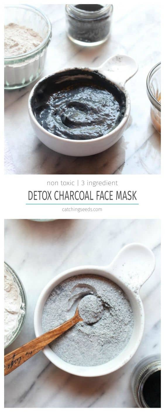 As the name implies, this rinse-off mask only uses three simple ingredients. All you'll need are activated charcoal, bentonite clay, and apple cider vinegar.