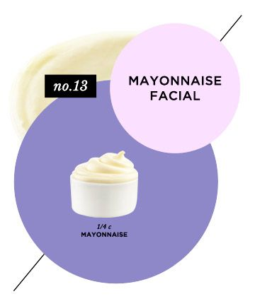 Yes, mayonnaise. This DIY moisturizing face mask uses mayonnaise to restore the moisture of extremely dry skin.