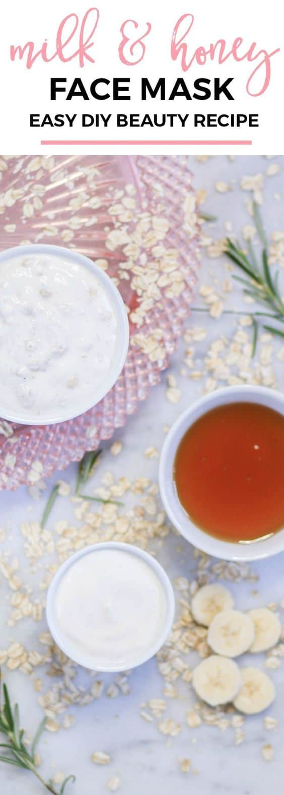 Aside from its moisturizing ability, this DIY moisturizing face mask works great as an exfoliant. The powers of yogurt, banana, and honey are combined with oatmeal for a deep clean effect.