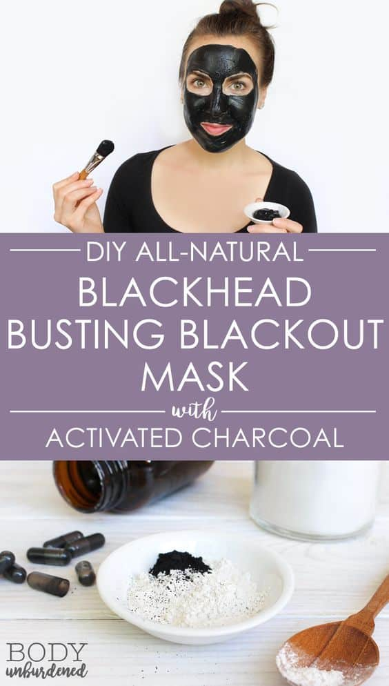 This activated charcoal face mask diy is for those who prefer the wash-off over the peel-off types. It makes use of bentonite clay along with water and apple cider vinegar.