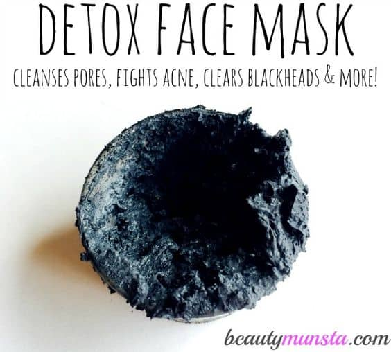 This charcoal face mask diy only uses two ingredients. It makes use of activated charcoal and bentonite clay, which pretty much have the same acne-fighting properties.