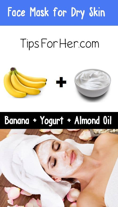 This DIY moisturizing face mask is perfect for those dealing with irritated skin. Almond oil, banana, and yogurt are a powerhouse for those who have sensitive skin.