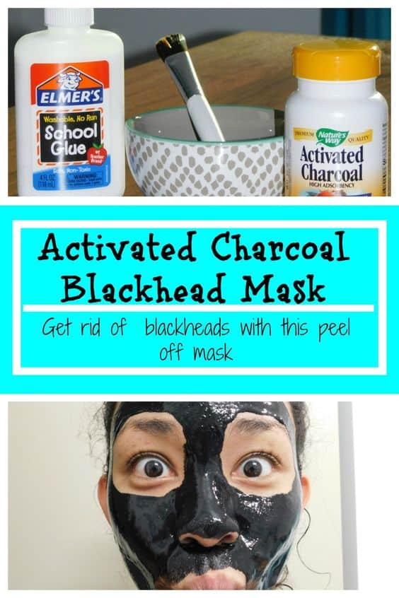 A peel-off mask, this activated charcoal face mask diy is probably something you've seen on YouTube. Its main ingredients are activated charcoal and school glue.