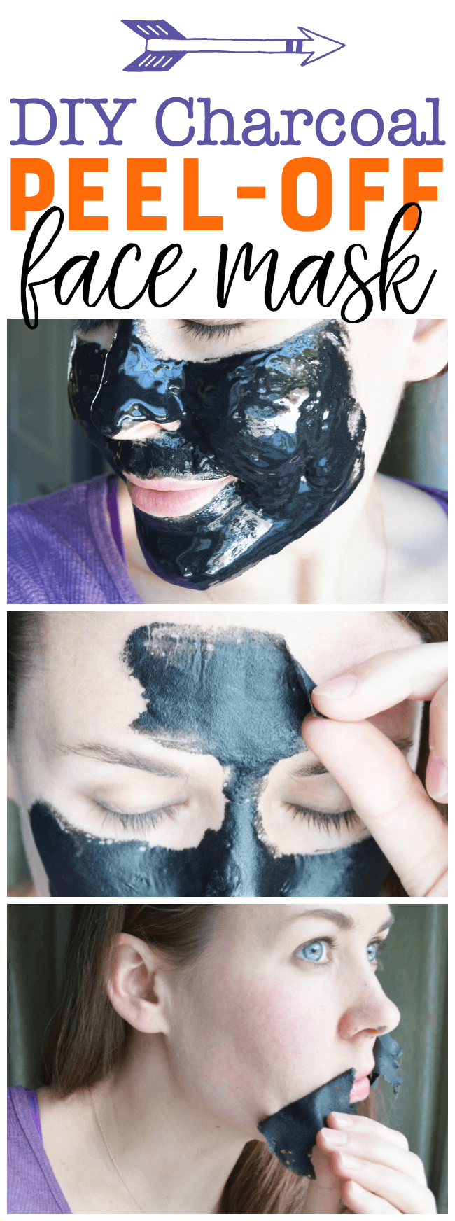 The other ingredients you'll need for this diy charcoal face mask peel off are bentonite clay and unflavored gelatin. These three ingredients may look simple but this mask is really effective.