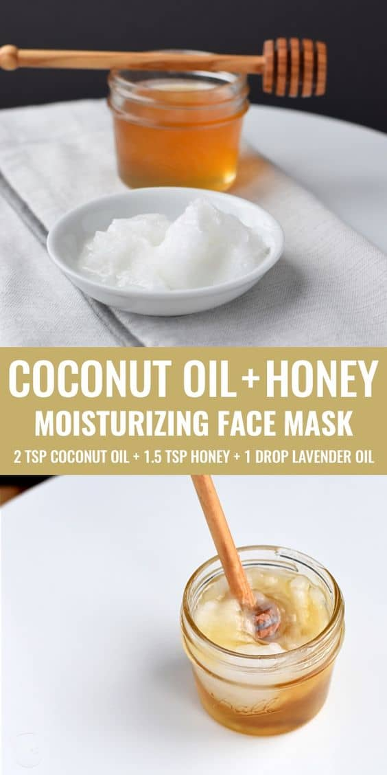 It doesn't get any better than this. This DIY moisturizing face mask combines coconut oil and honey (perhaps two of the best natural moisturizers) to keep your skin healthy and nourished.