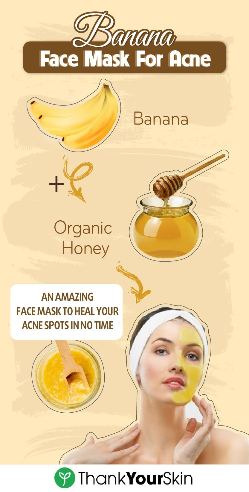 This homemade face mask made from honey and banana is full of vitamins and acne-fighting properties that can soothe irritated skin in no time. Ready to take your skincare routine to a whole new level? Try it today!