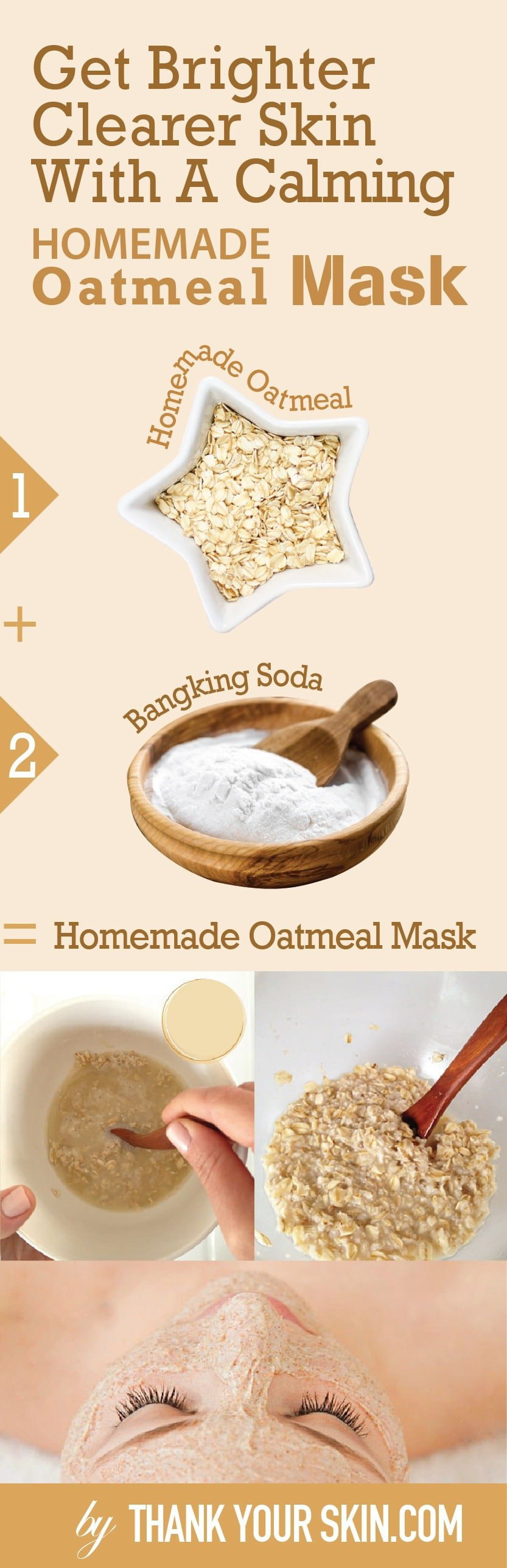 Tired of having oatmeal for breakfast? Use it in this DIY face mask instead and say goodbye to your pesky breakouts.