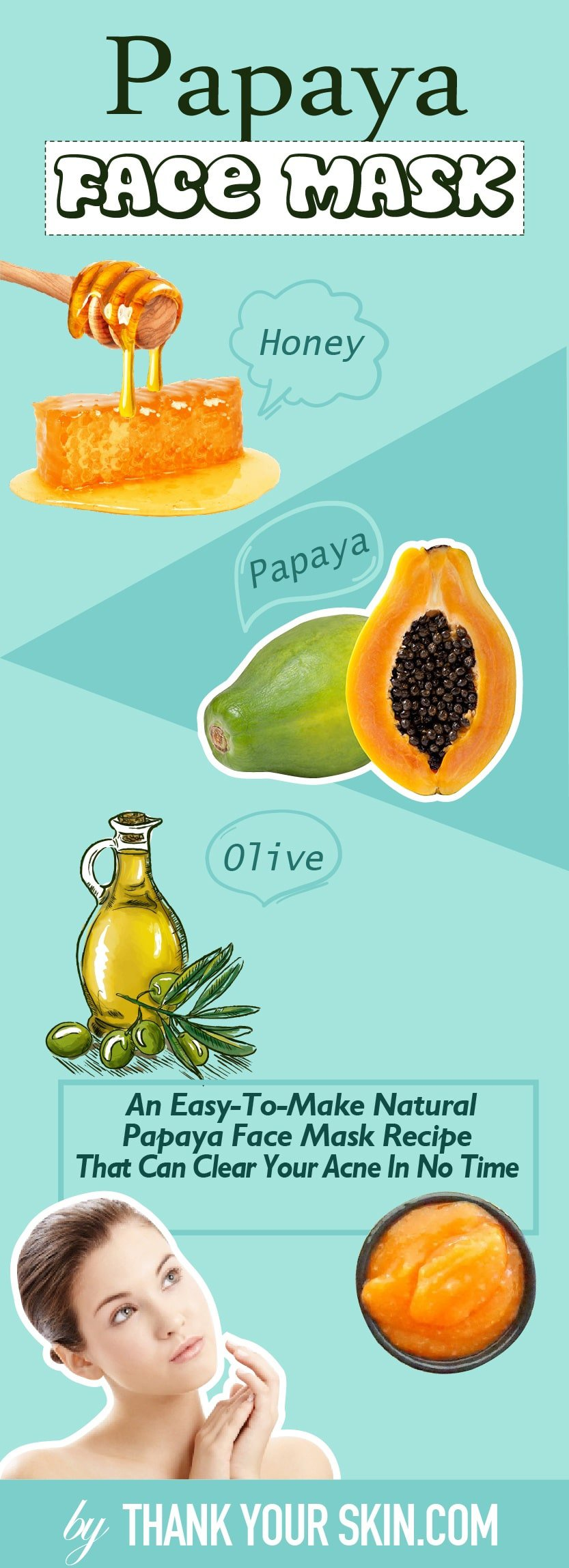 Papaya is a potent source of antioxidants and vitamins. Find out how using it in this DIY face mask can benefit your acne-prone skin.