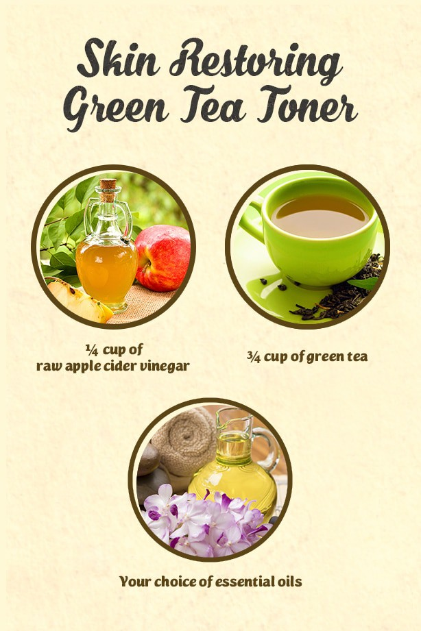 A homemade green tea toner infused with apple cider vinegar that isn't only effective but cheap, too!