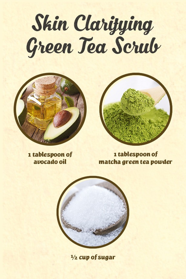 Clear away your acne and get clear skin with this green tea and avocado oil scrub you can easily whip up in no time. It's one of the best natural home remedies you can try.
