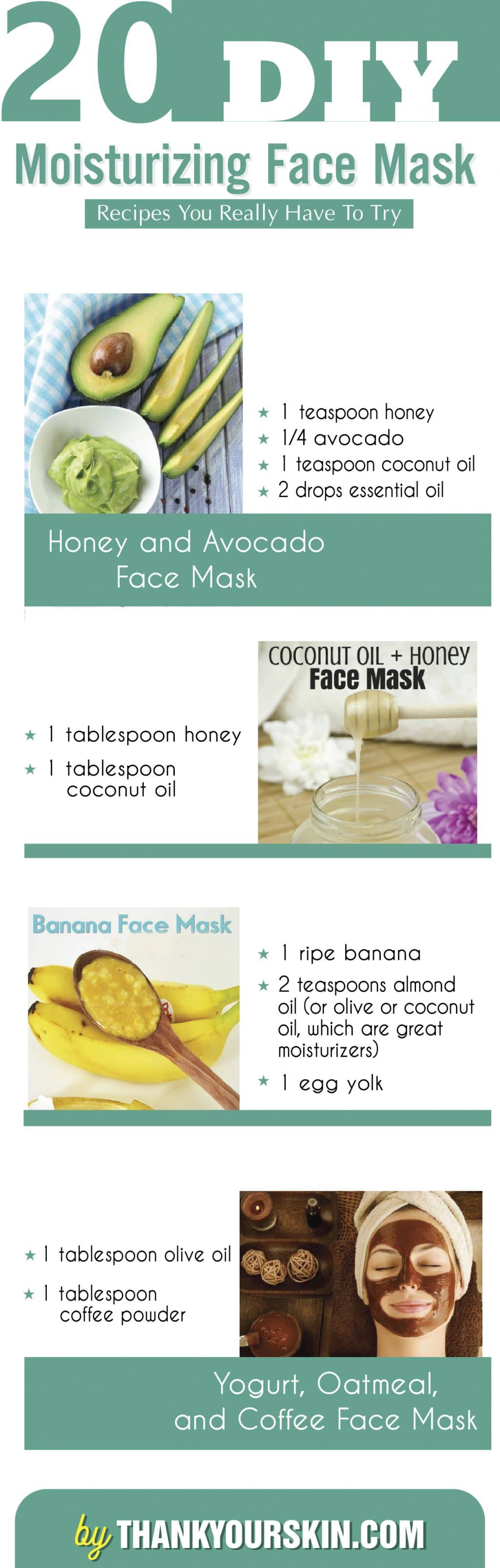 DIY moisturizing face mask