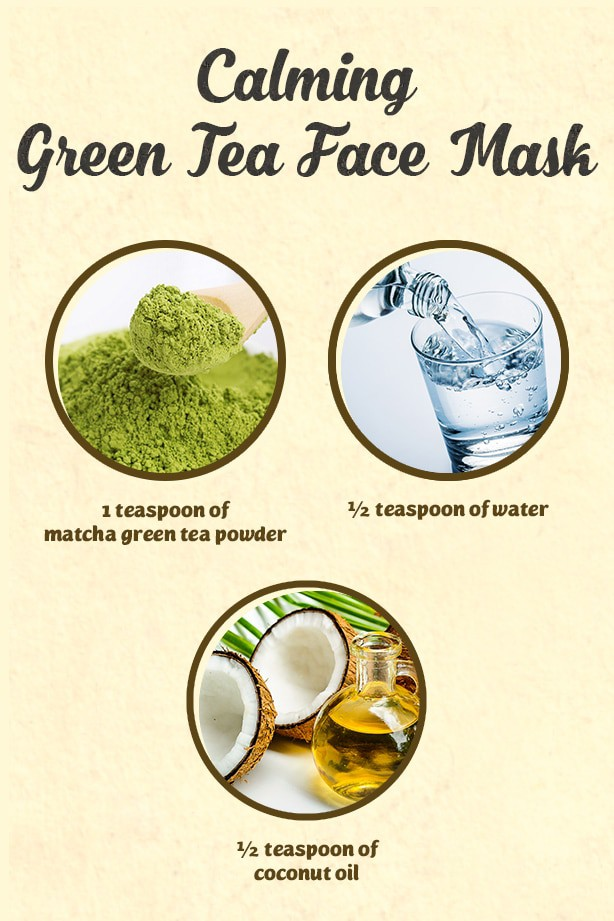 With this DIY face mask made with green tea, you can naturally beat skin redness and get glowing skin quickly.
