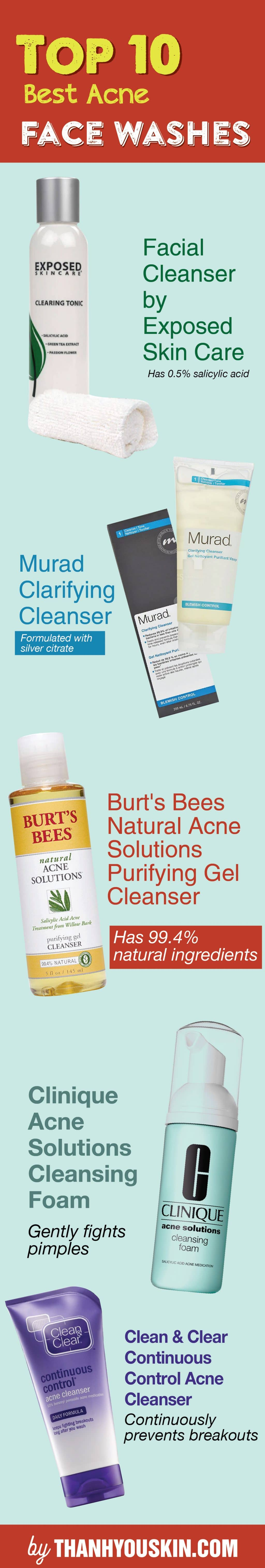 best acne face wash and cleanser