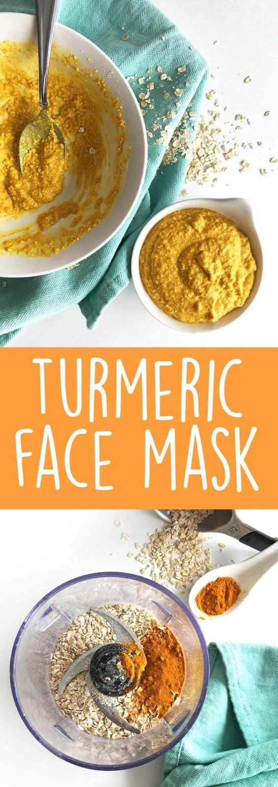 This DIY face mask for wrinkles is not only great for mature skin but for acne-prone skin, too. All you need are oatmeal and turmeric and you'll be greeted with clearer, younger and brighter skin.