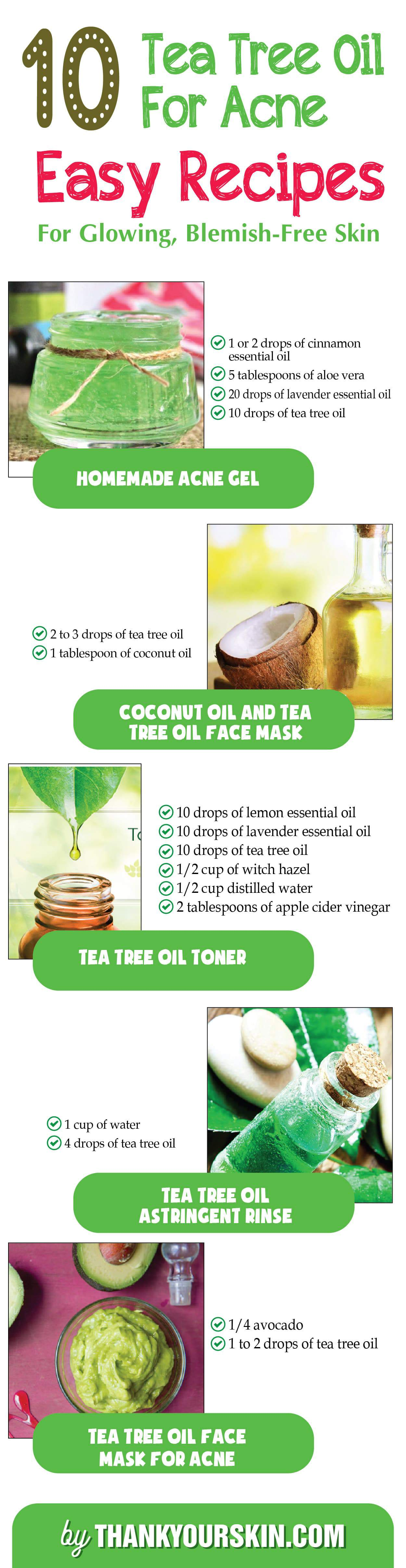 DIY Tea tree oil for Acne