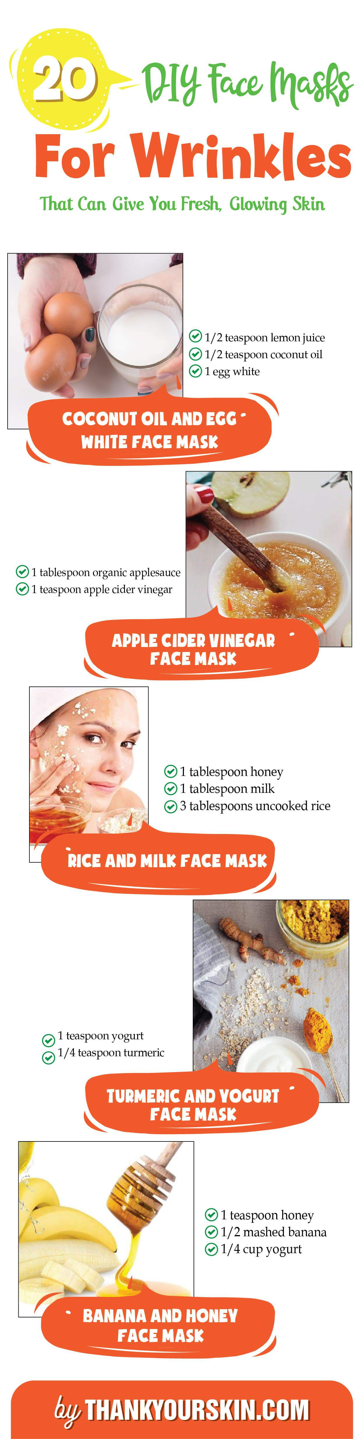 DIY face mask for Wrinkles