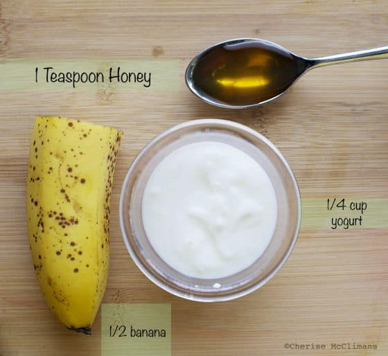 Can't get enough of bananas? This is another DIY face mask for wrinkles that uses bananas as its main ingredient. Plus, there's orange juice and yogurt, too.