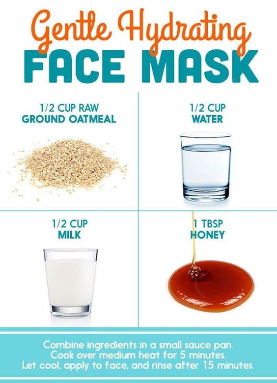 For a DIY hydrating face mask you can easily cook in just 5 minutes, you have to check this one out. It has the goodness of oatmeal, milk, and honey, to transform your skin in just a few uses.