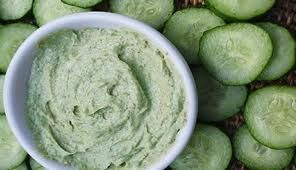 Dry skin is in need of a lot of water and this DIY face mask for dry skin delivers just that. It has cucumbers which are high in water content, along with honey, lemon juice and banana.